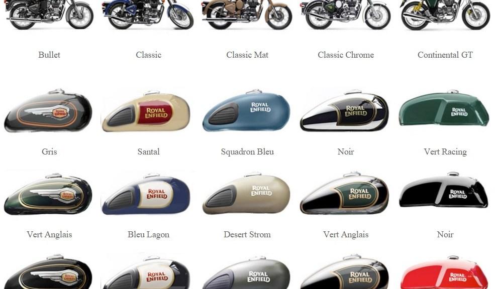 Gamme Royal Enfield Disponbile chez Classic Bike Esprit