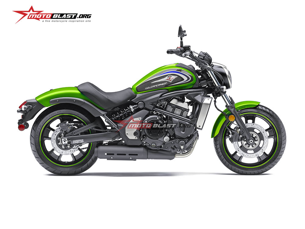 Modifikasi Striping Tangki Kawasaki Vulcan S Green