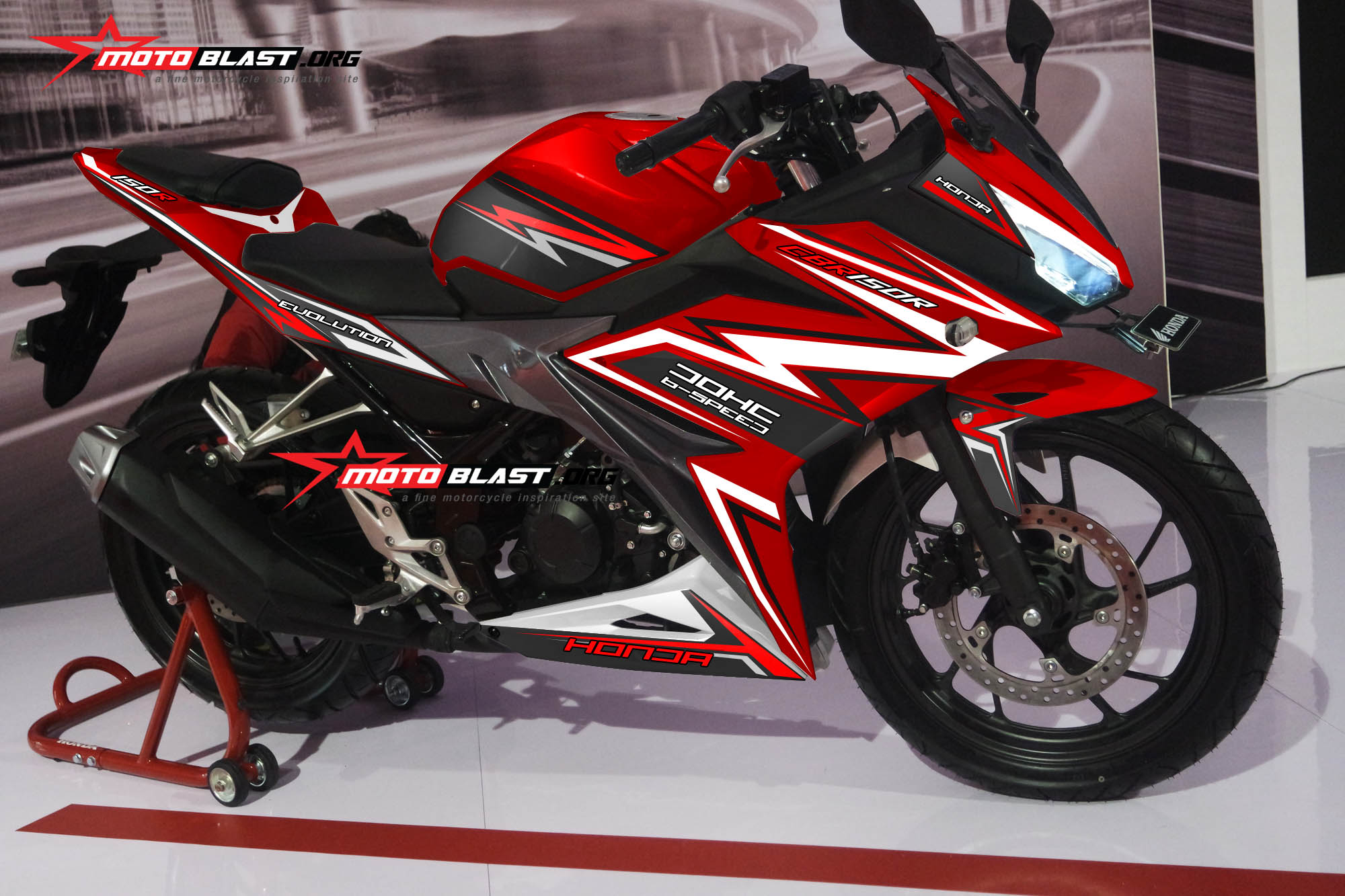 Graphic Kit Honda All New CBR150R RED Thunder
