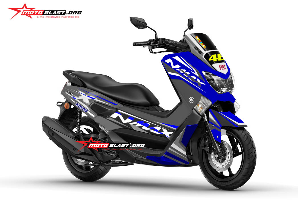Graphic Kit Yamaha NMAX Blue Racing Drak Grey