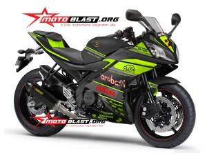 Modifikasi striping Graphic kit Yamaha R15 Black Aruba.IT Racing Green stabilo version