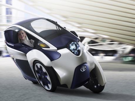Toyota iRoad leaning three-wheeler