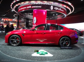 2016 NAIAS Alfa Romeo Giulia Quadrifoglio Red