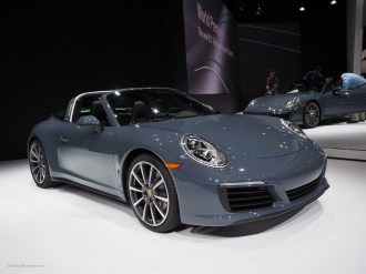 2016 NAIAS Porsche 911 Targa Graphite Blue Metallic