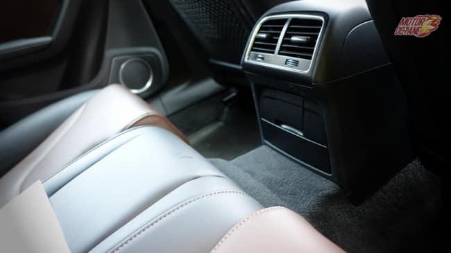 Audi S5 rear AC vent