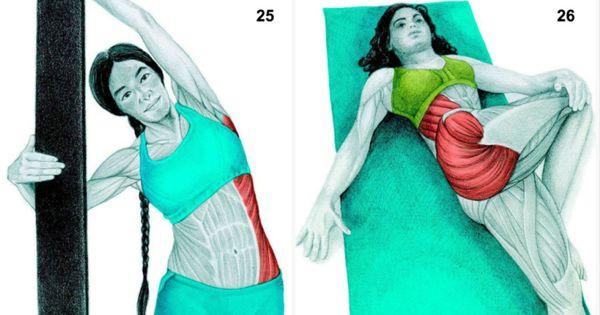 34 ćwiczenia, które rozciągną wszystkie mięśnie