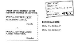 Judge Overturns Tom Brady's Four Game Suspension (Complete Ruling Attached)