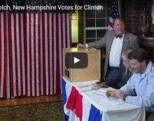 Dixville Notch Votes for Clinton 4, Trump 2