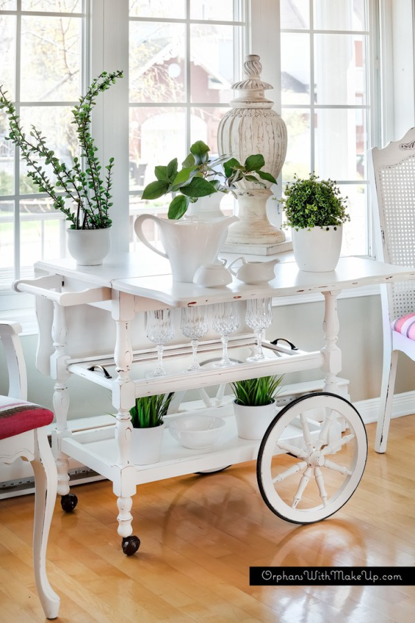 diy-painted-tea-cart