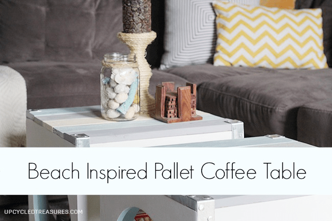 beach inspired pallet coffee table