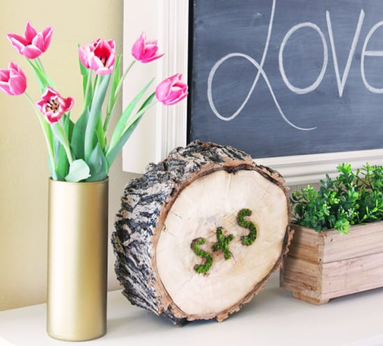 diy moss art valentine decor notjustahousewife