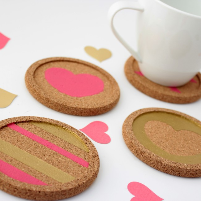 20 Last Minute Valentine Craft Ideas | DIY Valentine Coasters | View From the Fridge