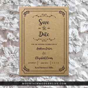 Printable Save the Date Template