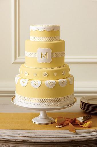 Martha Stewart Monogram Cake