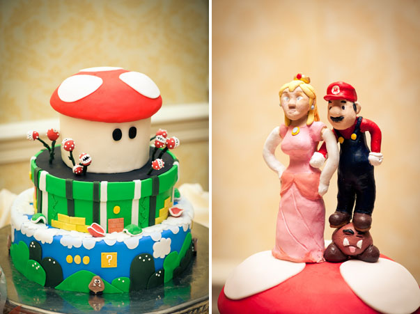 mario brothers wedding cake