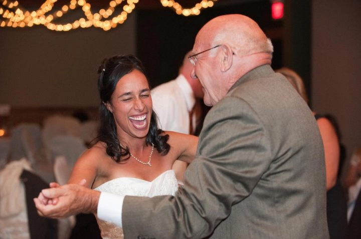 bride dancing with Father in Law