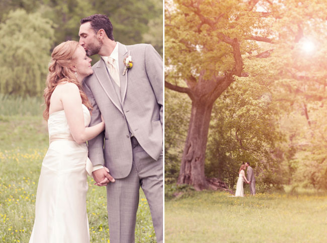 rustic wedding under a tree