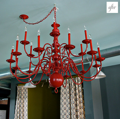 chandelier after up-cycle