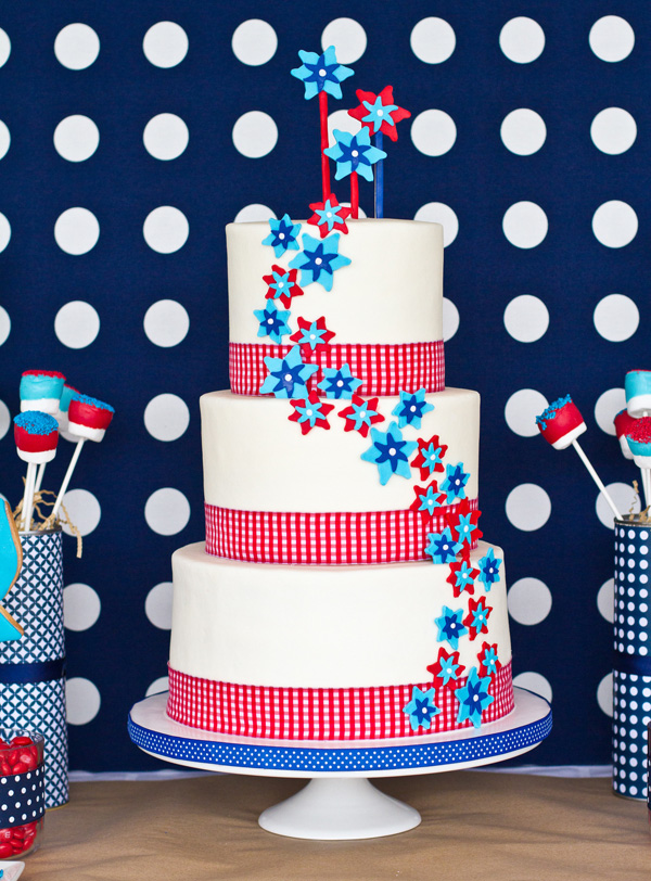 DIY cake decorations for the fourth of July
