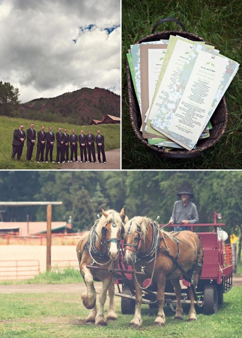 Aspen wedding Ceremony on a ranch