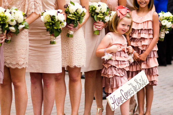 Vail Pink Ruffled Bridesmaids Dresses