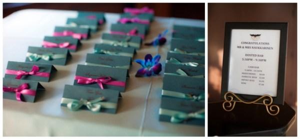 turquoise escort cards