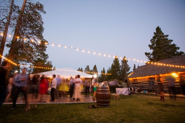 evening reception at the hayden cabin mammoth lakes wedding