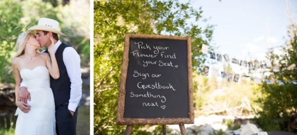 chalk board sign mammoth lakes wedding