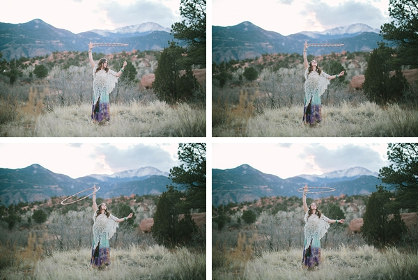 Colorado woman with hula hoop