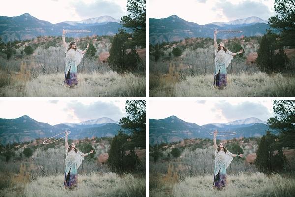 Colorado woman with hula hoop