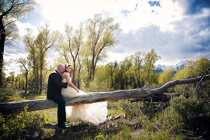 Jackson Hole Rustic Elopement via http://mountainside Bride