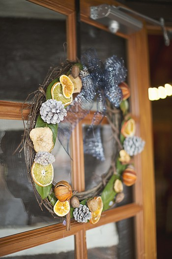 modern citrus wreath