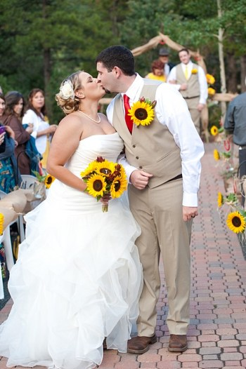 sunflower wedding ceremony | Colorado Wedding