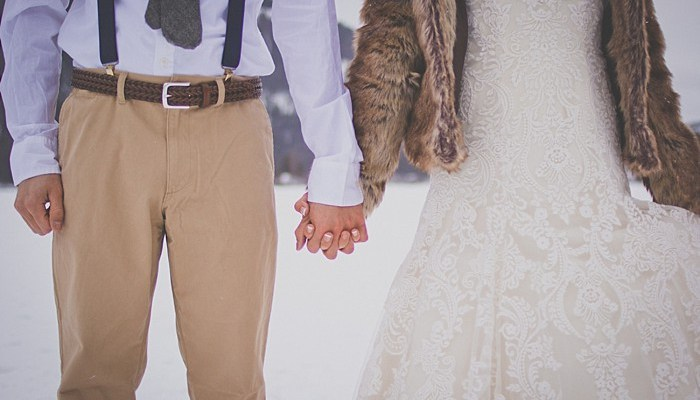 Montana Winter Wedding Inspiration with Vintage Details
