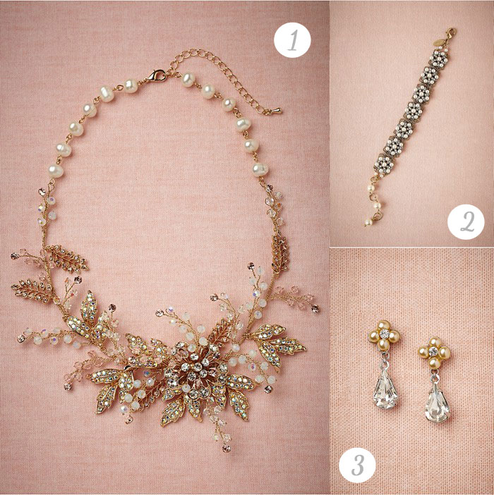 BHLDN Boundless blooms wedding Jewelry