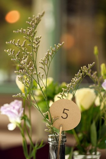 rustic table number | Snowbird Utah Wedding Logan Walker Photography