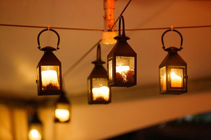 hanging lanterns | Snowbird Utah Wedding Logan Walker Photography