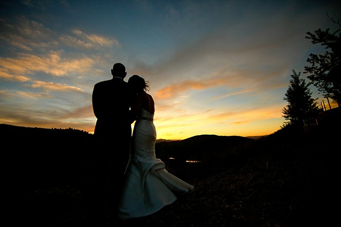 Sunset wedding portrait | Deer Valley Utah Wedding |  Pepper Nix Photography
