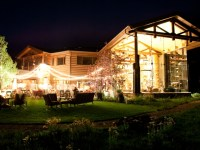 house at night | Park City Luxury Home Wedding