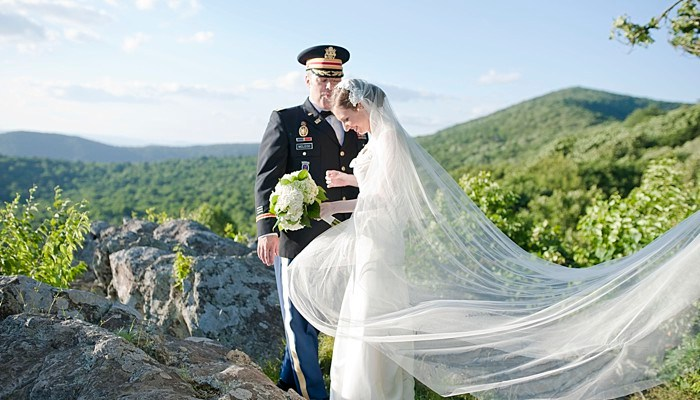 Patriotic Elopement in Virginia's Blue Ridge Mountains
