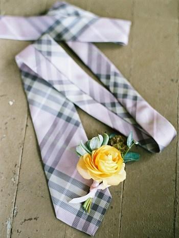 plaid tie    Boulder Colorado Wedding   Laura Murray