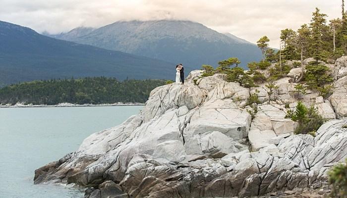Dreamy Mountain Bridal Session in Alaska