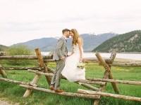 Homespun Breckenridge Wedding with Preppy Navy and Yellow Details