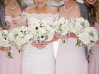 Elegant Winter Wedding in Colorado with Blush, PInk and Gray Details