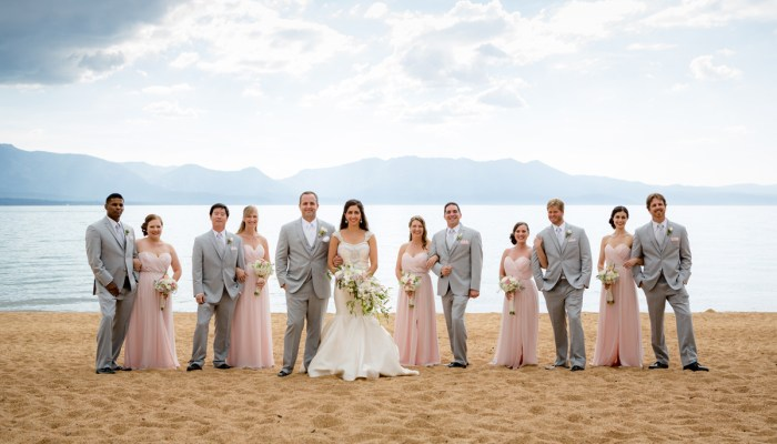 Pretty Lake Tahoe Wedding with Pink and White Details | Eric Asistin Photography