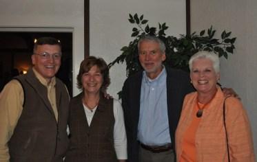 Left-right: Ron Woodhead, MNC Past President;Ann Woodhead; Dan Jones, MNC Director; Kathleen Jones