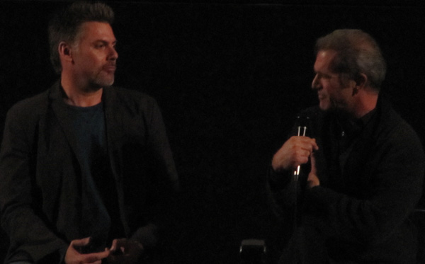 Geoff Boucher and Mel Gibson in conversation about Mad Max at the Egyptian Theater in Hollywood