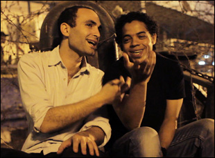 """Khalid Abdalla and Ahmed Hassan in Jehane Noujaim's """"The Square"""""""