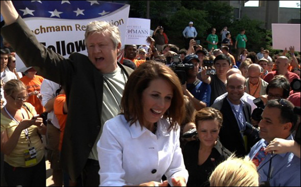 """Marcus and Michele Bachmann in a scene from AJ Schnack's """"Caucus"""""""