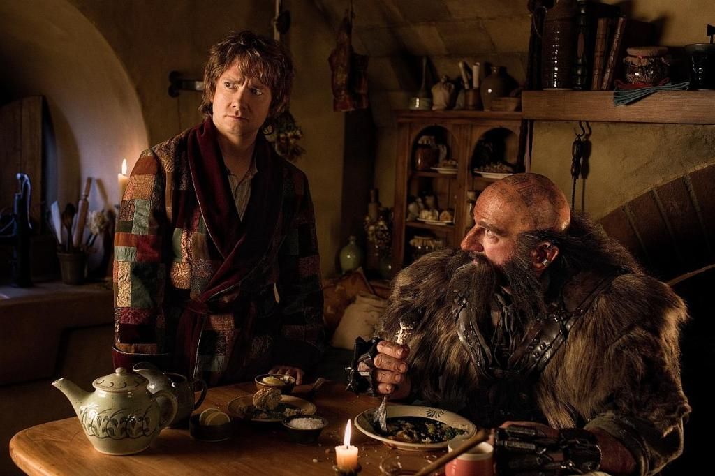 Hobbit holes look a bit odd in HFR, but the dwarves themselves look good